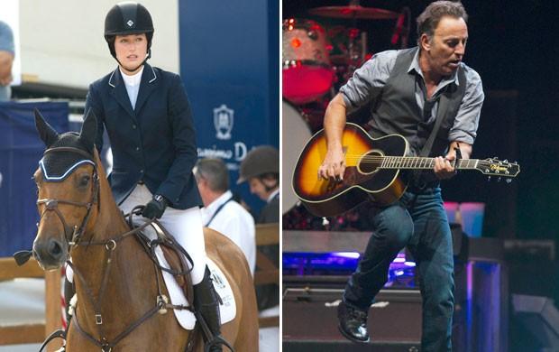 Montagem Jessica Springsteen e Bruce Springsteen (Foto: Editoria de Arte / Globoesporte.com)