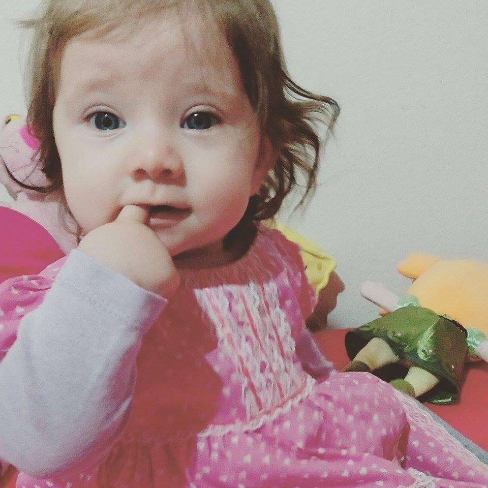 Sophia, que estava com 8 meses (Foto: Arquivo pessoal)