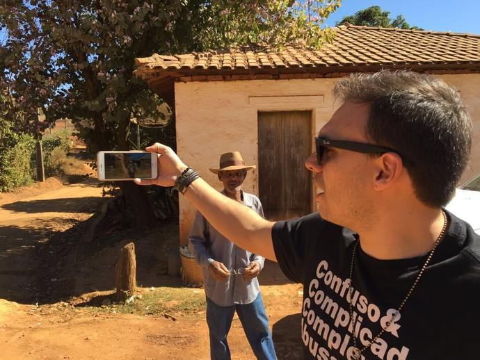 Mário registra momentos durante as gravações (Foto: Divulgação)