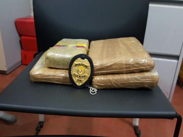 Tabletes com maconha estavam dentro de uma sacola (Foto: Polícia Civil de Oriximiná/Divulgação)
