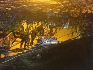 Troca de tiros na Rocinha na madrugada deste domingo (29). (Foto: Arquivo pessoal/Morador da Rocinha)