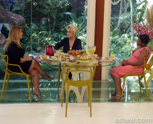 Ana Maria conversa com CIda (Foto: Mais Você / TV Globo)