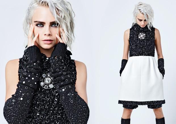 Cara Delevingne na campanha de inverno 2018 da Chanel (Foto: Reprodução)