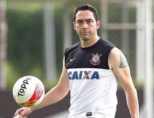 Chicão no treino do Corinthians (Foto: Daniel Augusto Jr. / Ag. Corinthians)