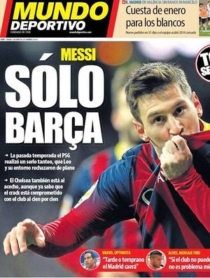 Capa Mundo Deportivo Messi (Foto: Reprodução)