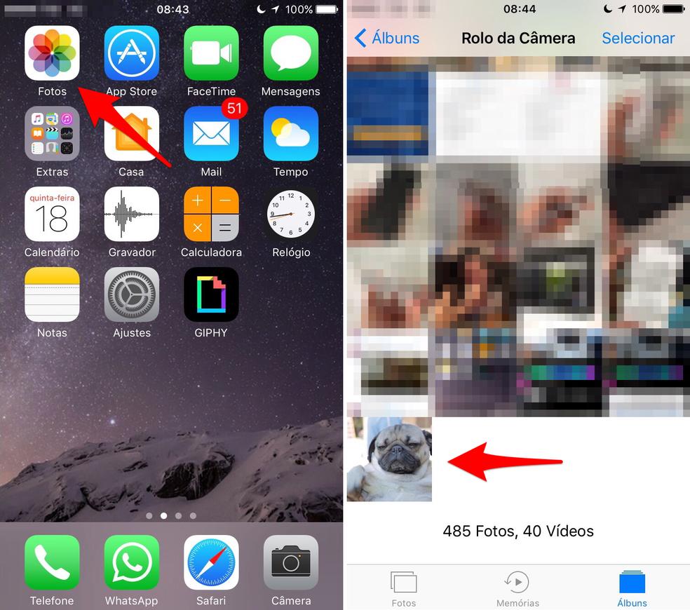 Abra a Live Photo que você salvou no iPhone (Foto: Reprodução/Lucas Mendes)