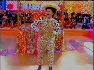 Dançarino DG durante apresentação do programa Esquenta (Foto: Reprodução/Tv Globo)