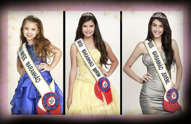 Atuais detentoras do título de Miss Maranhão Mini, Mirim e Juvenil (Foto: Divulgação)