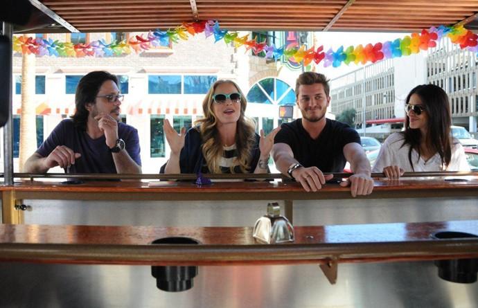 Lúcio Mauro Filho, Angélica, Klebber Toledo e Cleo Pires em Las Vegas (Foto: Deborah Montenegro/Divulgação)