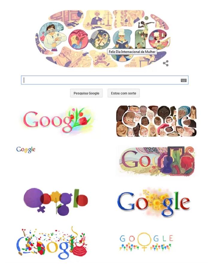 Google faz Doodles em homenagem ao Dia da Mulher todo ano (Foto: Reprodução/Google)