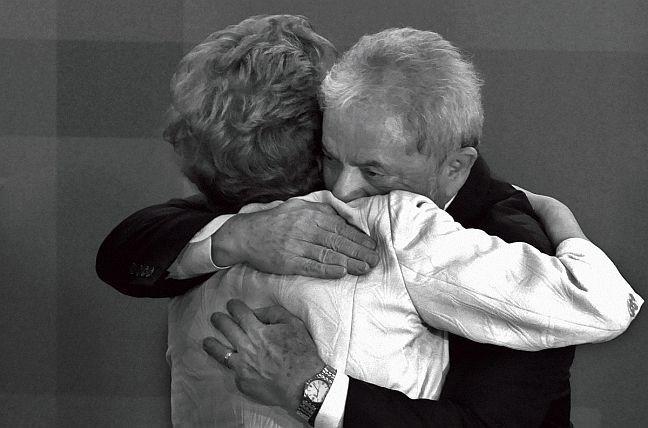 Os ex-presidentes Dilma Rousseff e Lula (Foto: Orlando Brito)