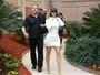 Kim Kardashian volta a exibir corpo voluptuoso em viagem a Dubai