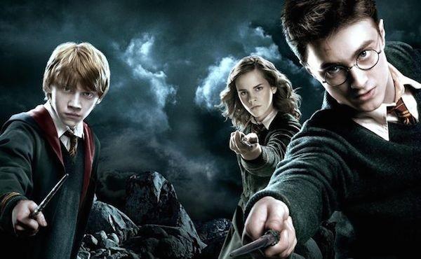 Harry Potter, Rony e Hermione com suas varinhas (Foto: Reprodução)