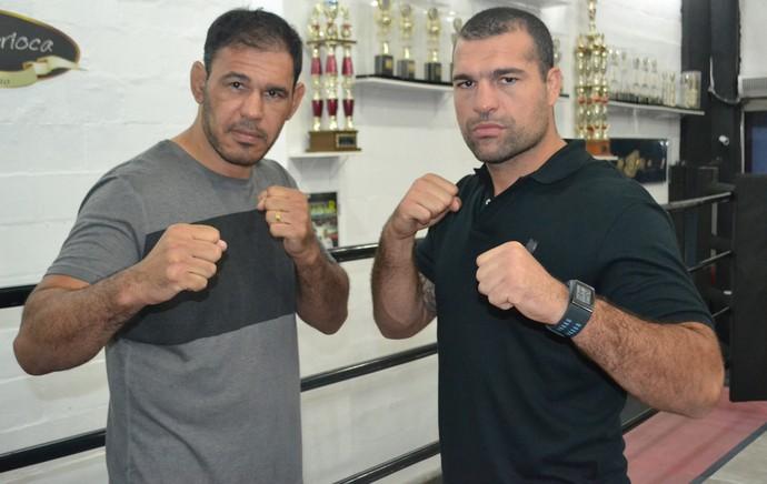 Rogério Minotouro e Maurício Shogun (Foto: Raphael Marinho)