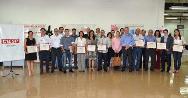 Diplomação de novos associados ao CIESP Sorocaba (Foto: Divulgação)