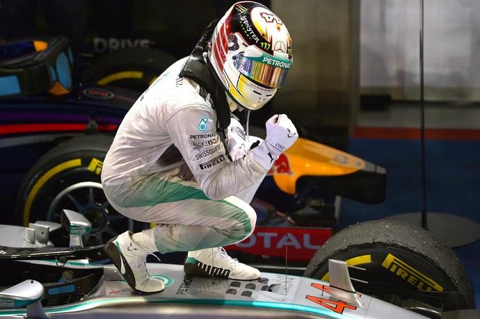 Hamilton, Formula 1 Cingapura (Foto: Agência AFP )