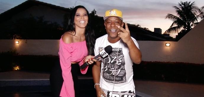 Niara Meireles já entra no ritmo de carnaval com Márcio Victor. (Foto: Produção / Se Liga VM)