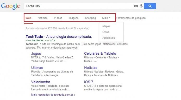 Aprenda a usar os filtros-padrão do Google (Reprodução/Taysa Coelho)