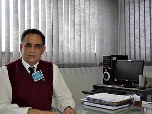 O presidente do Hospital Mário Gatti, Marcos Eurípedes Pimenta (Foto: Fernando Pacífico / G1 Campinas)