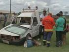 Ambulância capota e deixa grávida ferida em Paragominas, no Pará