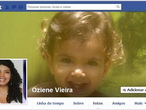 Menina está desaparecida desde o dia 27 de junho (Foto: Reprodução Facebook)
