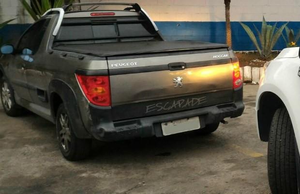 Peugeot Hoggar Escapade apreendido por R$ 9 milhões em dívidas (Foto: Divulgação/Detran)