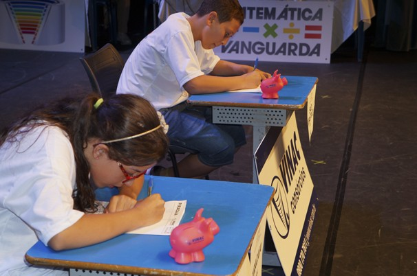 Alunos disputam etapa do Matemática Vanguarda (Foto: Vanguarda)