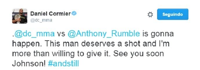 BLOG: Após desafio de Johnson, Daniel Cormier afirma que ele merece disputar o cinturão