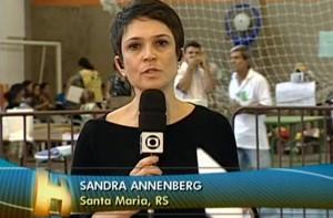 Sandra Annenberg em Santa Maria para o Jornal Hoje (Foto: Domingão do Faustão / TV Globo)