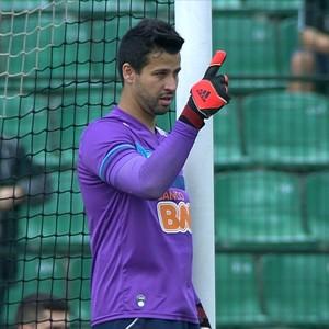 Goleiro Fábio durante a partida Cruzeiro x Figueirense (Foto: Reprodução/TVGLOBO)