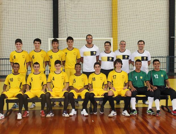 Time Sub-17 de Futsal do Praia Clube (Foto: Divulgação/Praia Clube)