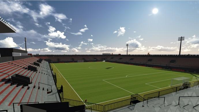 reforma estádio Bento Freitas Brasil de Pelotas (Foto: Divulgação / GEBrasil / Olla Studio)