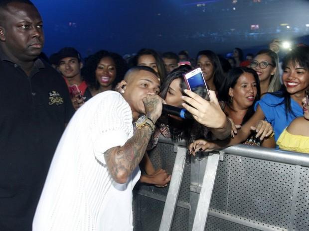 MC Duduzinho em show na Zona Oeste do Rio (Foto: Marcos Ferreira/ Brazil News)