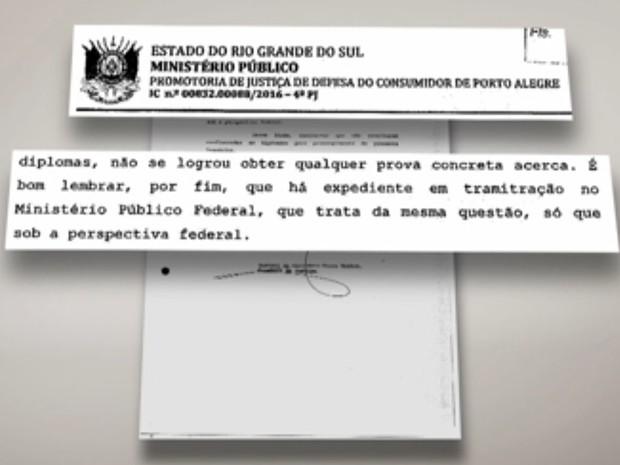 Ministério Público investigou o caso no Rio Grande do Sul (Foto: Reprodução/RBS TV)