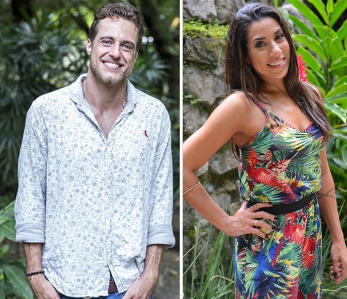 Daniel e Juliana dão conselhos a amiga Adélia  (Foto: Ellen Soares / Pedro Carrilho / Gshow)