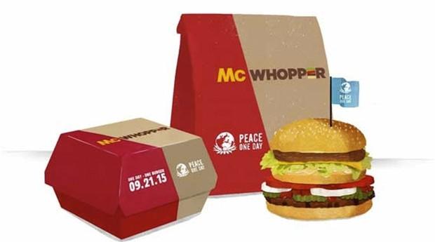 Burger King quer fazer lanche com o McDonald`s: você comeria? (Foto: Reprodução)