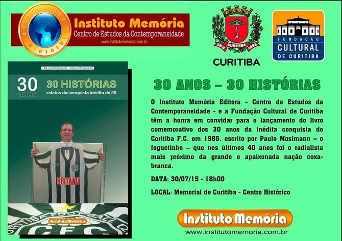 Blog Torcida Coritiba - livro Paulo Mosimann Foguetinho Coritiba 1985