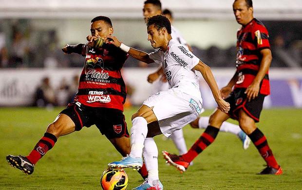 Neymar jogo Santos Flamengo-PI (Foto: Ricardo Saibun / Divulgação Santos FC)