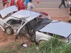 Batida entre carros deixa dois mortos em rodovia que liga Brasília a Unaí