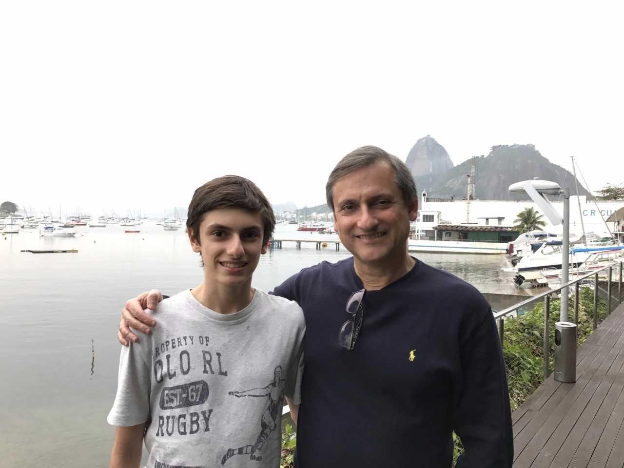 Heron e o filho Enzo (Foto: Arquivo pessoal)