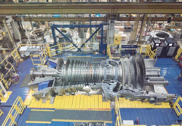 Turbina para geração de energia em termelétrica (Foto: GE)
