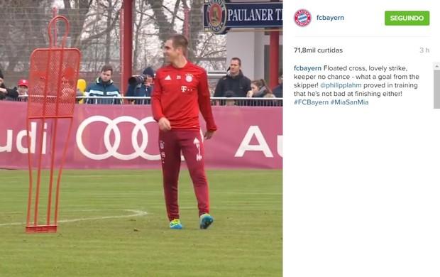 BLOG: Categoria alemã! Philipp Lahm faz golaço em treino do Bayern