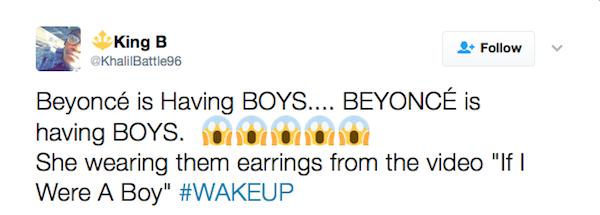 A teoria defendida por fãs de Beyoncé (Foto: Twitter)
