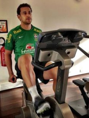 Seleção Brasileira Brasil treino academia hotel Fred (Foto: Assessoria CBF)