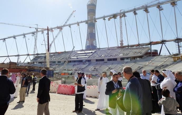 Estádio Khalifa, em Doha, no Catar. Palco de jogos da Copa do Mundo de 2022 (Foto: Thiago Dias)