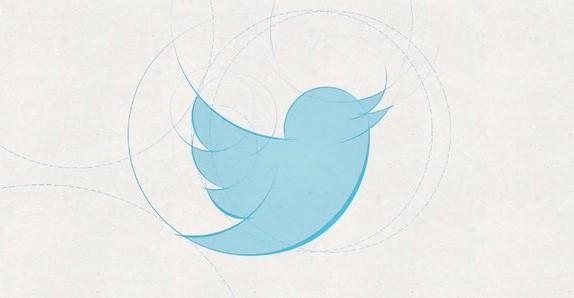 Concepção do logo do Twitter, feito com 13 círculos perfeitos (Foto: Divulgação)