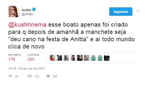Anitta responde seguidor (Foto: Reprodução / Instagram)