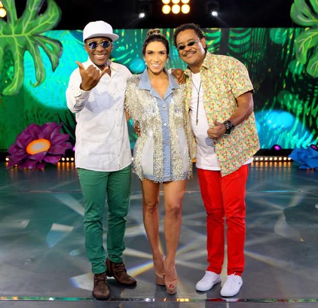 Beto Jamaica, Patricia Abravanel e Cumpade Washington (Foto: Divulgação/SBT)
