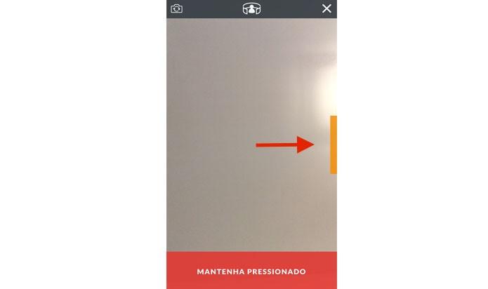 Arraste o retângulo laranja para o lado esquerdo (Reprodução/ Gabriella Fiszman)