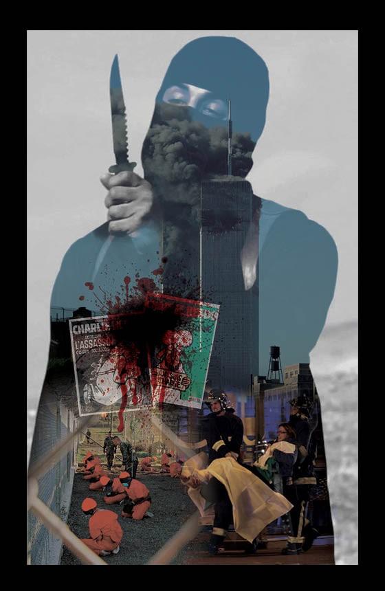 AMEAÇA GLOBAL Montagem de cenas dos últimos 15 anos. O terrorismo infunde medo - e a guerra ao terror gerou abusos (Foto: Montagem de Daniel Pastori sobre fotos de: Reuters)